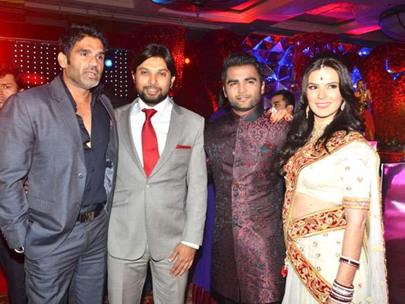 Suniel Shetty Attend Urvashi Sharma and Sachin wedding reception