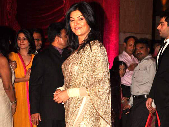 Sushmita Sen at  Riteish and Genelia's reception