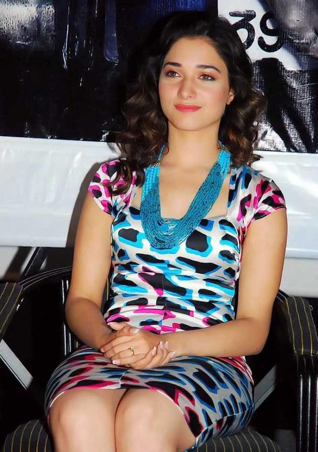 Tamanna Bhatia Mini Dress Hot Photo