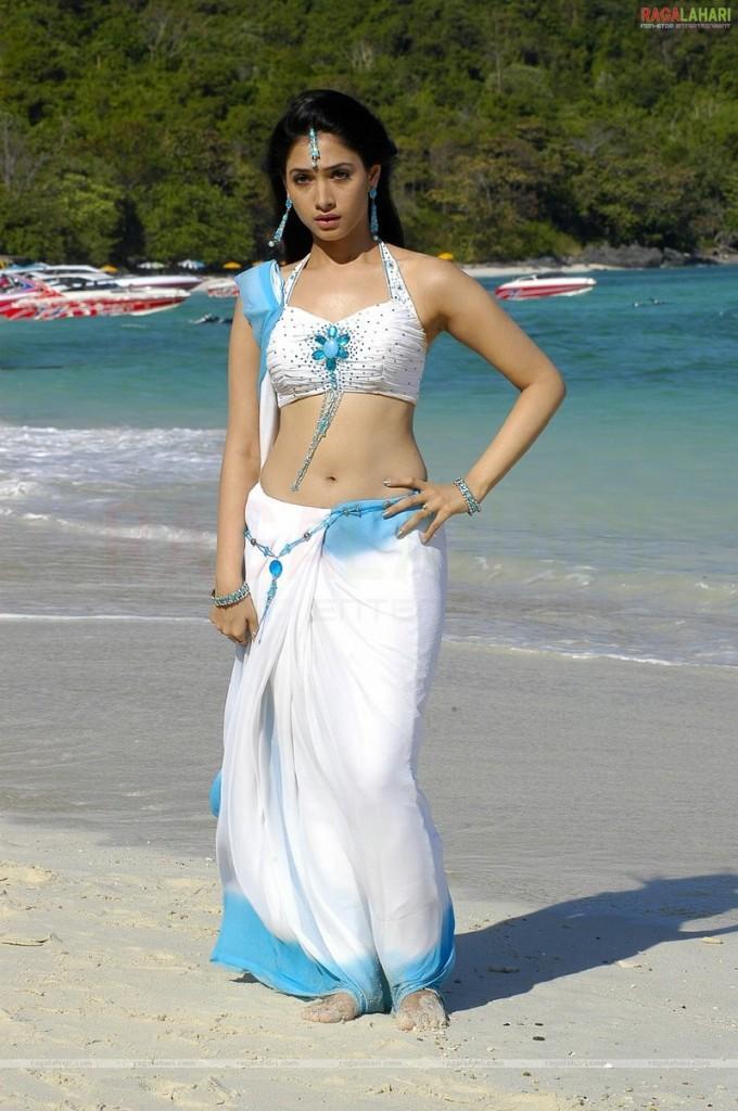 Tamanna Bhatia Sexy Saree Still