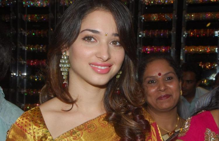 Tamanna Smile Face At Womans World Launch