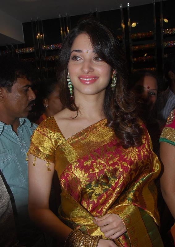 Tamanna Traditional Saree Sweet Face Still