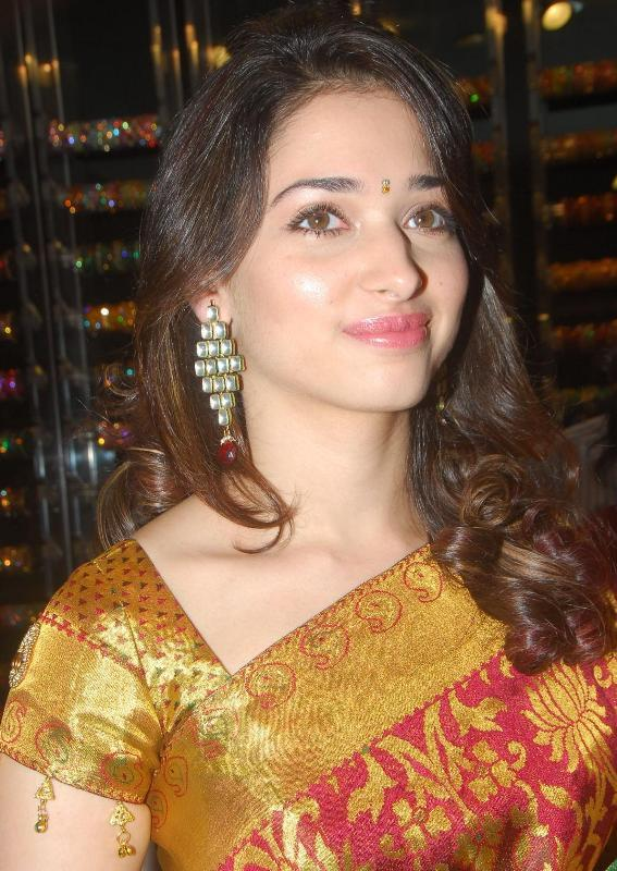 Tamanna in Saree At Womans World Launch