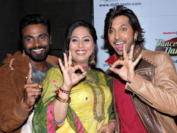 Terrence,Remo and Geeta Kapoor  at Success Bash of Dance India Dance 100 Episodes