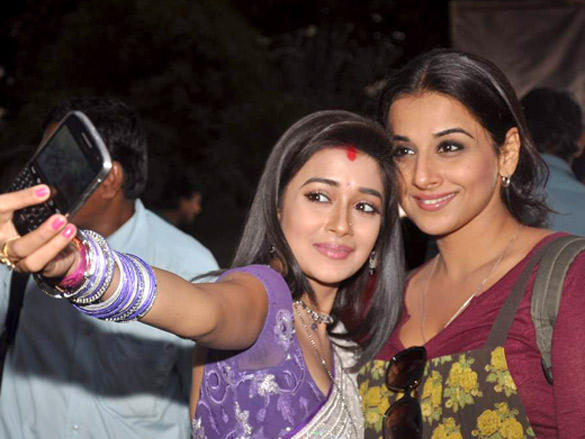 Tina Dutta,Vidya Balan posing for photo shoot