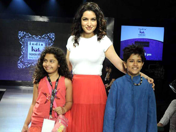 Tisca Chopra walks the ramp at India Kids Fashion Week