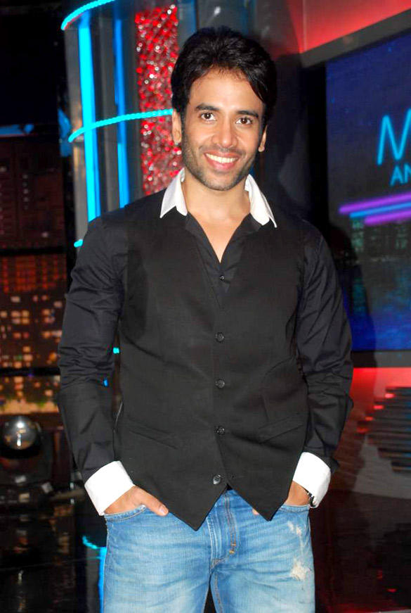 Tusshar Kapoor on the set of Shekhar Suman Movers And Shakers Show