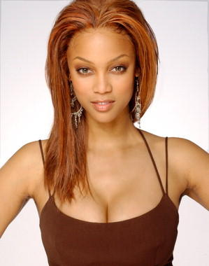 Tyra Banks Brown Hair Awesome Face Look