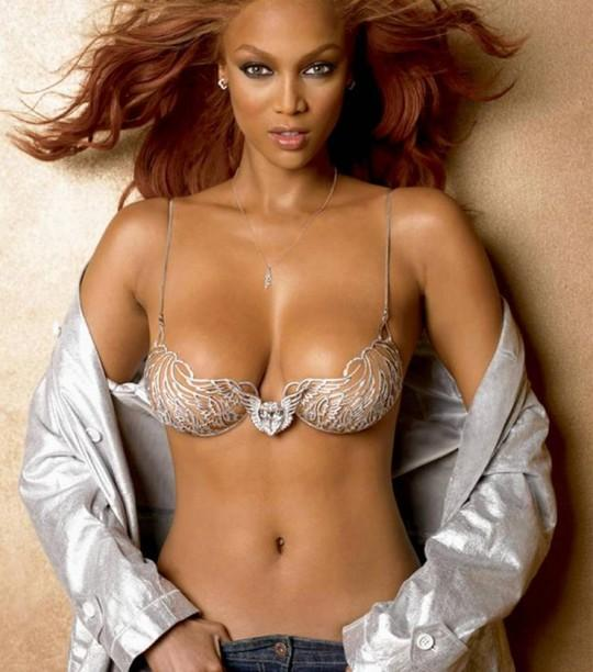 Tyra Banks Hot Navel Show Photo Shoot
