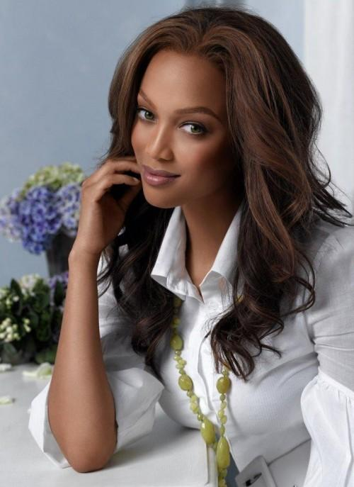 Tyra Banks Nice Face Look Photo
