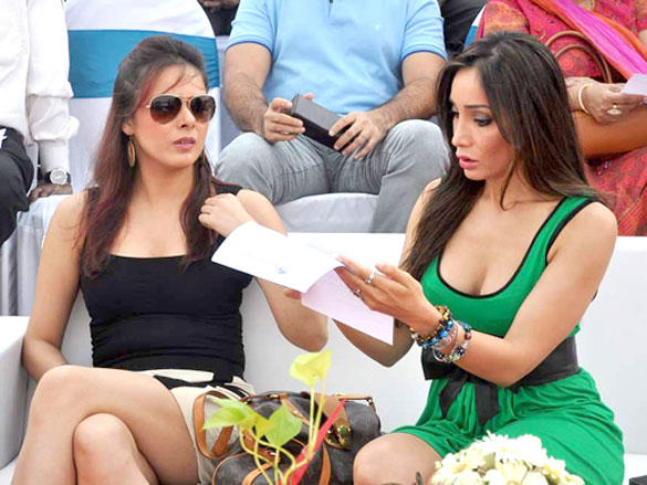 Udita Goswami and Sofia Hayat During Argentine VS Arc Polo Match