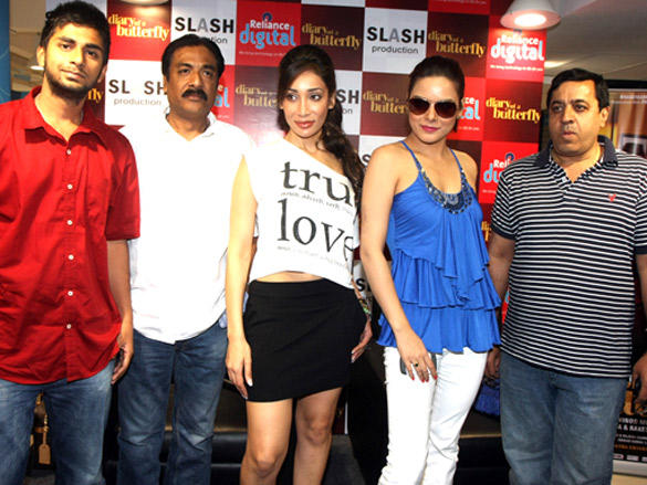 Udita and Sofia promote Diary of a Butterfly at Reliance Digital