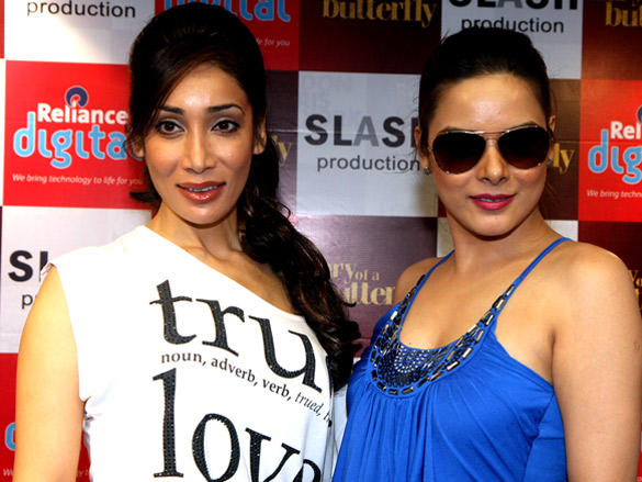 Udita and Sofia visited Reliance Digital to promote Diary of a Butterfly