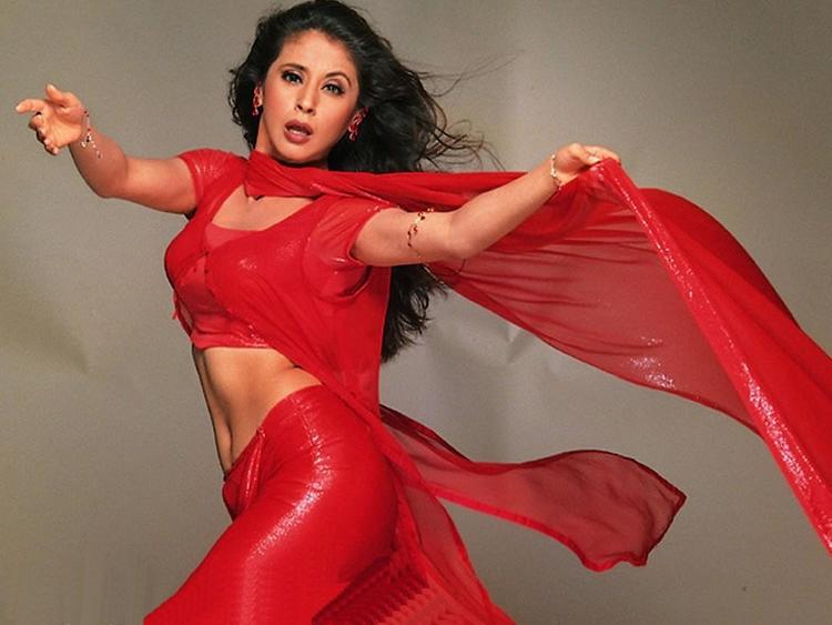 Urmila Matondkar Red Dress Sexiest Wallpaper