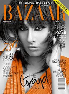 Vidya Balan Different Look in Harpers Bazaar India Magazine Photo