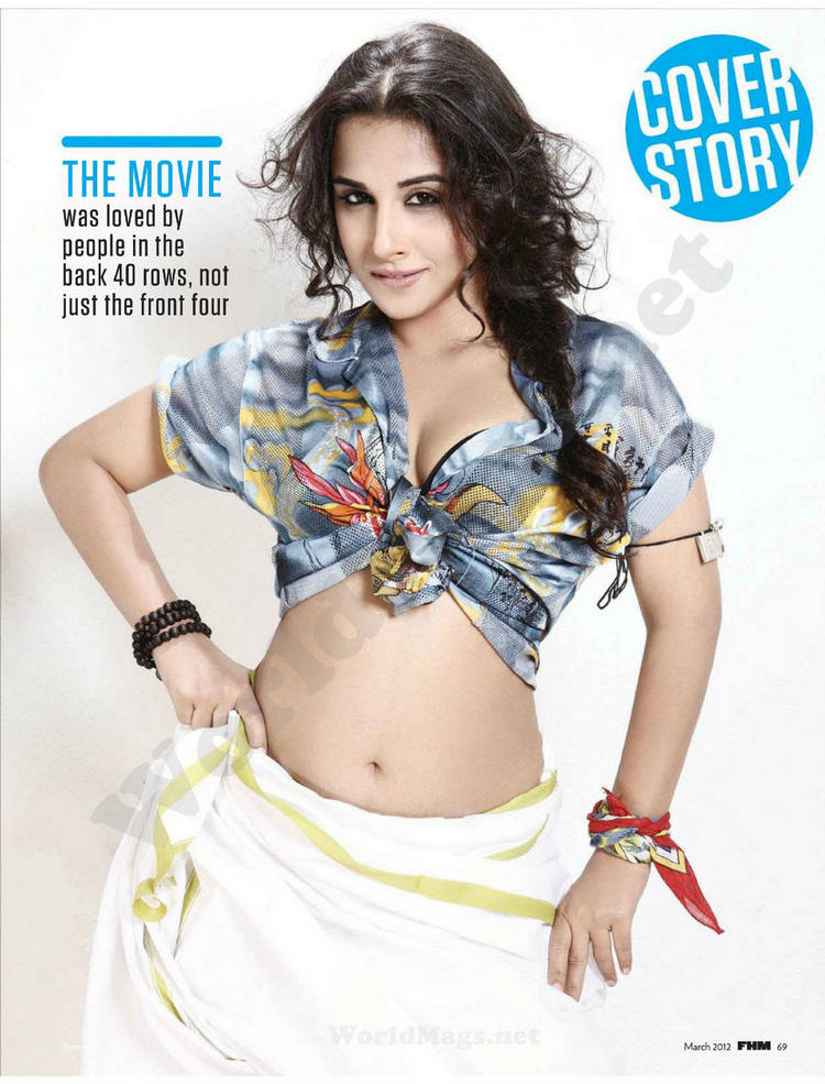 Vidya Balan Sexy Navel Photo Shoot For FHM