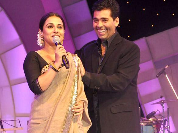Vidya Balan and Karan Johar during FICCI Frames 2012 Awards