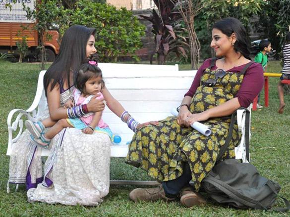Vidya Balan on the sets of Colors channel TV serial Uttaran