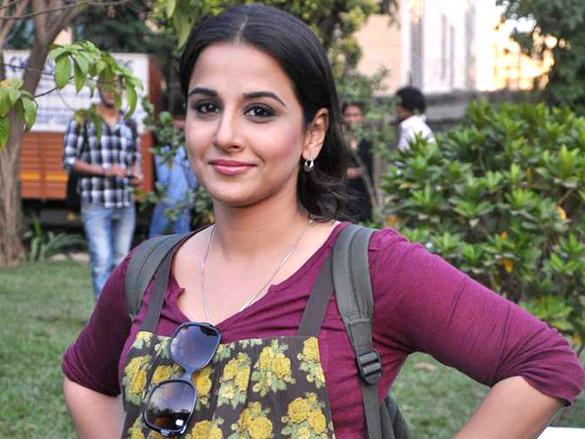Vidya Balan posing for photo shoot