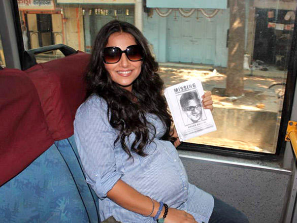 Vidya Balan with her pregnant look promoted her Kahaani