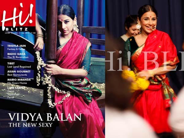 Vidya Balan on the cover of Hi! Blitz - January 2012 Issue