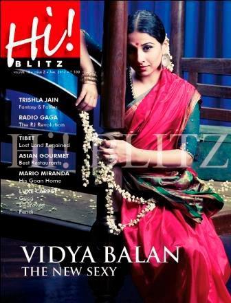 Vidya Balan on the cover page of Hi! Blitz - January 2012