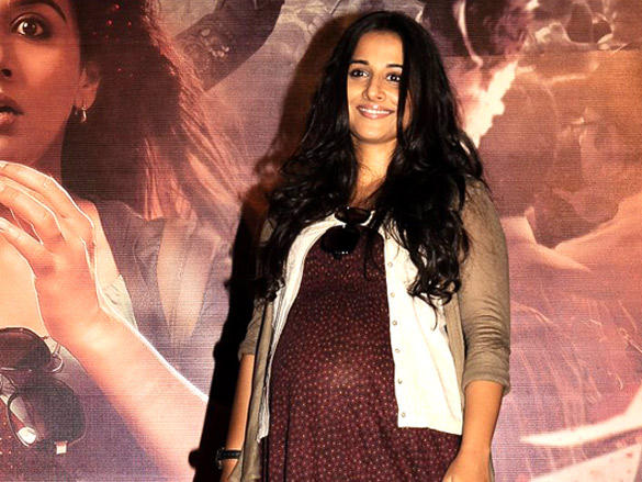 Vidya who acts as a Pregnant mom unveils her upcoming movie