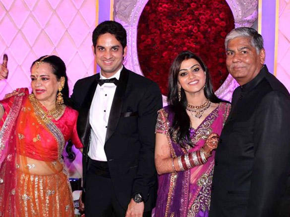 Vikaas Kalantri with Priyanka at his wedding reception