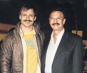Vivek Oberoi With Dad