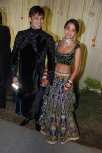 Vivek Oberoi and Priyanka Reception Pic