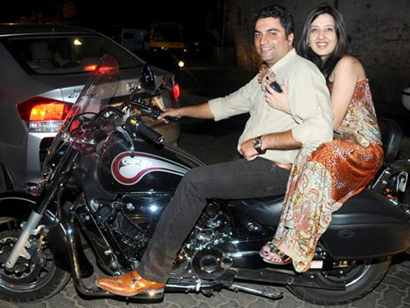 Wonderful bike still at Book Launch of Bollywood Striptease