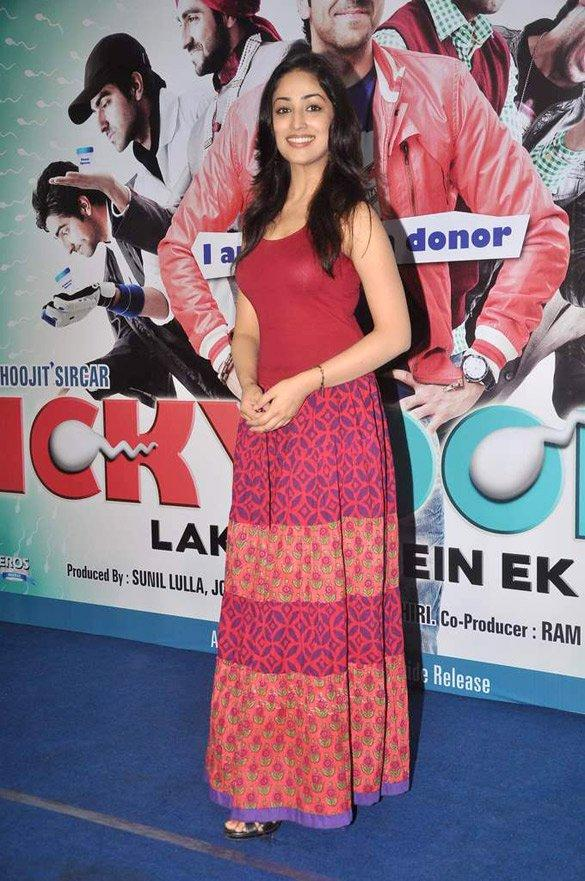 Yami Gautam Beauty Still With Longs Skort at Vicky Donor Music Launch