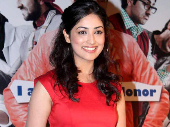 Yami Gautam Looking Very Gorgeous in Red Color Dress