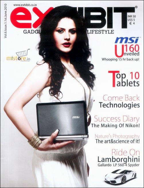 Zarine Khan Featured on Cover Of Exhibit Magazine