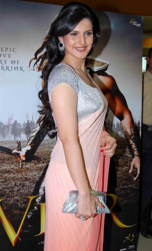 Zarine Khan Sexy Saree Stills