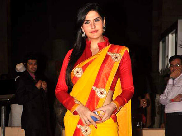 Zarine Khan at  Riteish and Genelia's reception