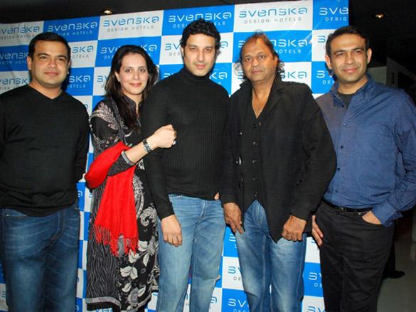 Zia Sheikh,Vasant Bhandari at at Svenska Design Hotels Valentines Day bash