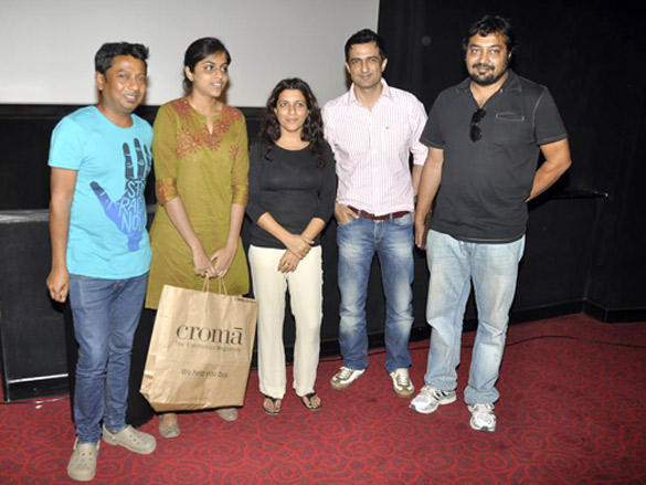 Zoya and Anurag at a special screening of The Artist