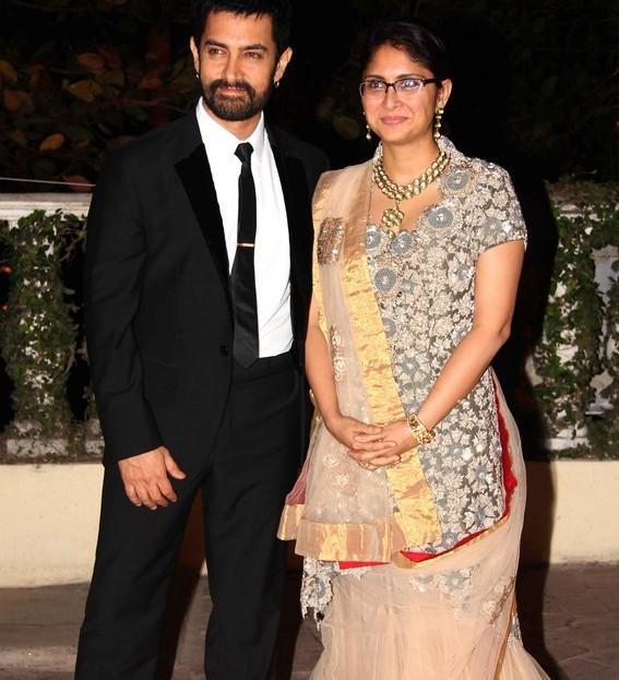 Aamir and Kiran at reception