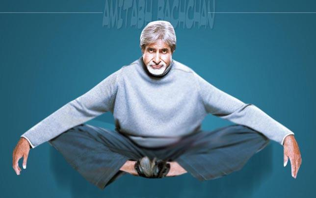 Big B in Yoga Pose