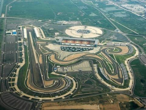 Aerial View India First Formula One F1 Race Track