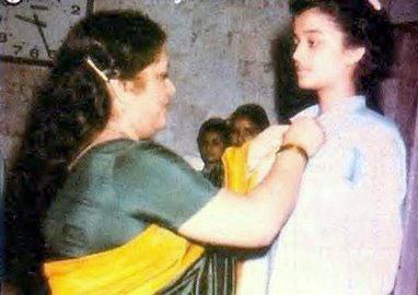 Aishwarya Rai Childhood Photo - In Early Teenage
