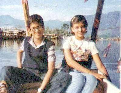 Aishwarya Rai Childhood Photo - In Vacation