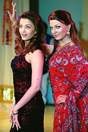 Aishwarya Rai wax model at Madame Tussauds