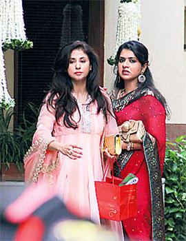 Urmila Matondkar at Aishwarya's Baby Shower function