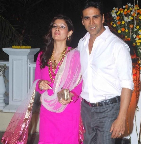 Akshay and Twinkle at reception