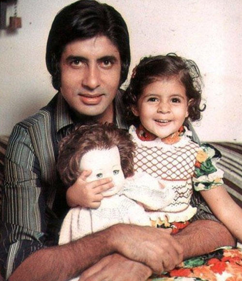Amitabh Bachchan with Daughter Shweta