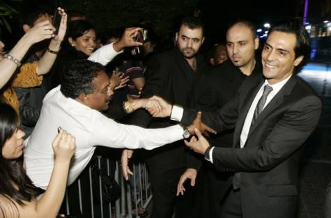 Arjun Rampal at Dubai for Ra One premier