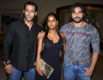 Arpita Khan with Sohail & Salman