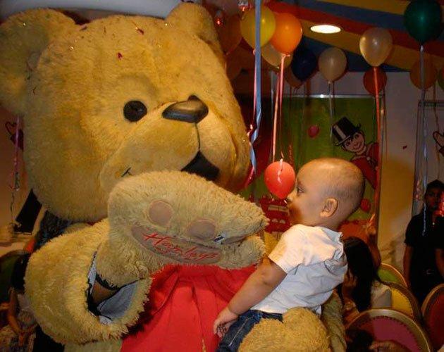 Shahraan with Bear